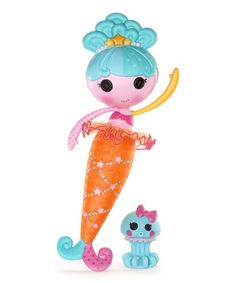 This magical mermaid doll makes a cutie companion and even comes with her own sensationally silly squid sidekick. Featuring wildly whimsical wears such as a terrific tail that changes colors in water and a two-tier tutu, she's the perfect pint-size pal for engaging in exciting endeavors.