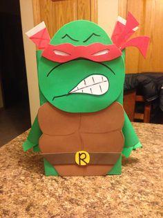 Teenage Mutant Ninja Turtle Valentine Box