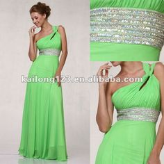 Light Green Long dresses