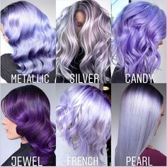 65 Fabulous Ombre Hair Ideas for a Sassy Look You can never go wrong with ombre hair when you're looking to give yourself a complete makeover. Take your hair on a wild adventure with these sassy ombre hair ideas. Light Purple Hair, Lilac Hair, Hair Color Purple, Hair Dye Colors, Cool Hair Color, Pastel Purple Hair, Short Lavender Hair, Purple Hair Streaks, Metallic Hair Color