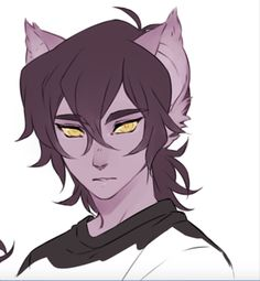 Keith as a Galra alien from Voltron Legendary Defender. I really don't want Keith to transform into a Galra alien, but this looks so cool.