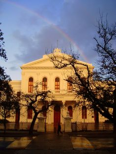 University of Stellenbosch, South Africa. The Law faculty. Most gorgeous building on campus.. and the law students like to remind you so. :P