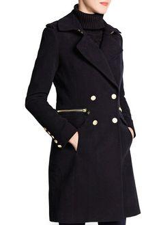 Military style long coat