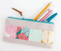 Patchwork Zipper Pouch DIY Tutorial