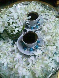 Coffee with jasmine flowers