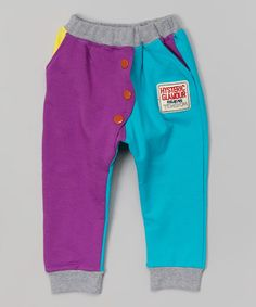 Another great find on #zulily! Purple & Teal Harem Pants - Infant, Toddler & Kids by Leighton Alexander #zulilyfinds