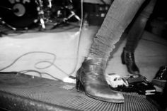 """bunnycaper: """" Carrie Brownstein's boot. Wild Flag at Local 506 in Chapel Hill, NC. Carrie Brownstein, Chapel Hill, Girl Bands, Combat Boots, Flag, Musicians, Shoes, Fashion, Moda"""