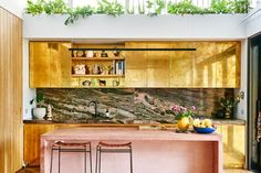This Crazy-Cool Kitchen Has Metallic Gold Cabinets—and It's Blowing Our Minds via @MyDomaine
