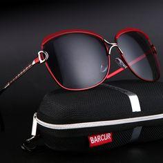 62d7472fe02 BARCUR Ladies Sunglasses Women Gradient Lens Sun glasses Women Luxury Brand  Female Sunglasses Gradient Polarized Eyewear
