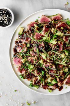 Sesame Crusted Tuna Tataki | Cravings Journal