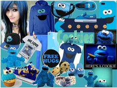 """""""Cookie Monster!!!(:"""" by haigurl-143 ❤ liked on Polyvore"""