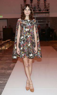 Alexa Chung in Valentino Cape Dress