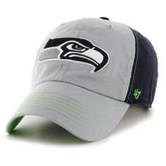 Men's Seattle Seahawks '47 Gray/Navy Tumult Clean Up Adjustable Hat, Your Price: $21.99