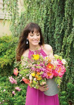 Garden wedding bridesmaid style. Hair and makeup by AW Wedding Hair and Makeup. Floral by Lush Couture Floral. Photo by Perez Photography. #wedding #bridesmaid #beauty #hair #makeup #floral