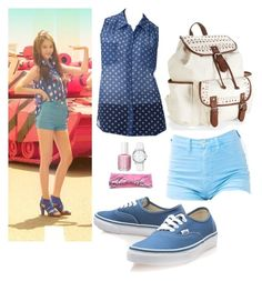 """""""f(x) """"Hot Summer"""" MV Krystal Inspired Outfit"""" by smokingcrayonz ❤ liked on Polyvore featuring AB Studio, Vans, Aéropostale, Anne Klein and Essie"""