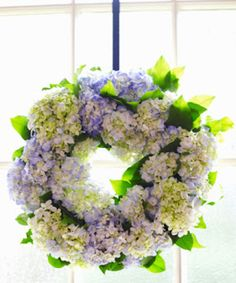 Tutorial - follow the photo link.  Make a hydrangea wreath