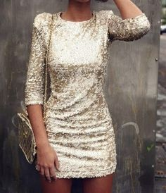 gold sequin dress - more → http://fashiononlinepictures.blogspot.com/2012/10/gold-sequin-dress.html