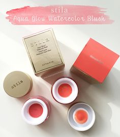 Stila Aqua Glow Watercolor Blush - Shimmering Lotus & Water Lily review and swatches  #makeup #blush #stila #beauty
