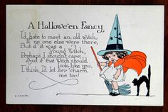 Young Witch Like You I'D Let Her Charm Me Too A Halloween Fancy Fantasy Postcard | eBay