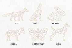 Geometric Animals EPS & PNG by Pixejoo on @creativemarket