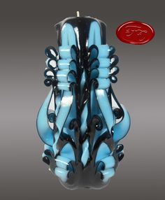 Hand Carved Fancy Candle  Medium 7 inches 17 cm by FancyCandles, $13.99
