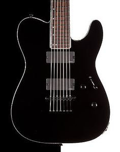 Esp E-ii Te-7 Electric 7 String Guitar Black Emg Pickups Eiite7blk - http://www.7stringguitar.org/for-sale/esp-e-ii-te-7-electric-7-string-guitar-black-emg-pickups-eiite7blk/26261/