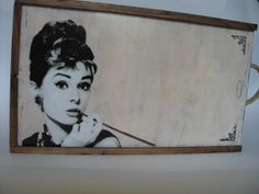 Beautiful Audrey and.. wine box..