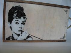 Beautiful Audrey and.. wine box..
