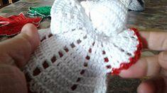 Angelo ad uncinetto rifinitura - YouTube Crochet Ornaments, Christmas Crochet Patterns, Crochet Snowflakes, Crochet Christmas, Crochet Angel Pattern, Crochet Angels, Dishcloth Knitting Patterns, Knit Dishcloth, Christmas Cross