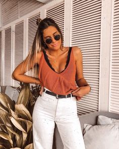 Spring Outfits, Trendy Outfits, Cool Outfits, Fashion Outfits, Looks Style, Casual Looks, Fiesta Outfit, Casual Chique, Look Retro