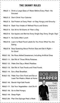 Skinny Rules   Renovating Our Lives