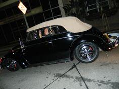 Ronald Hernandez, member of Versonly So Cal, Corona, CA, U.S.A. His 1956 black vert, with beige top and interior. Original 1967 Porsche alloys.