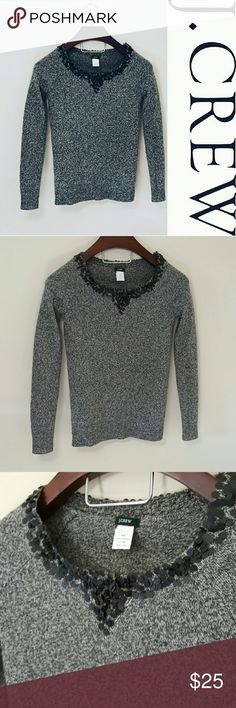 """J. Crew embellished sweater! In excellent condition! Beautiful J. Crew sweater size xxs but fits like a xs or small (I'm a size 4-6 and 5'9"""" and this fits me). Long length.  Bundle using the bundle feature and save! J. Crew Tops"""
