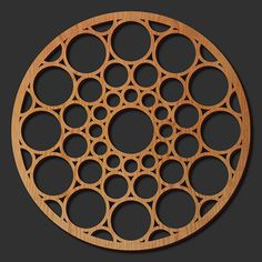 Decorative Frank Lloyd Wright Designed Laser Cut Wood Medallion