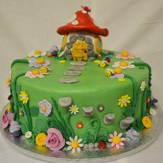 The Cake Artists - Mushroom / Fairytale cake with fondant flower detailing