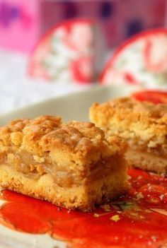 Sweet Desserts, Vegan Desserts, Sweet Recipes, Apple Cake Recipes, Dessert Recipes, Good Food, Yummy Food, Just Bake, Polish Recipes