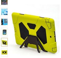 Ipad Air Case, Aceguarder Ipad Generation Silicone Plastic Heavy Duty Kid Freindly [Shockproof Rainproof] **New**dual Protective with Built-in Screen Protector Case Cover for Ipad Air (Pink/black) Kindle Fire Kids, Ipad 4 Case, Laptop Accessories, Ipad Air, Screen Protector, Apple Watch, Iphone, Pink Black, Cover