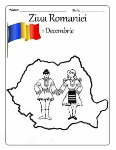 Ziua Romaniei 1 Decembrie, Activities For Kids, Crafts For Kids, Early Education, Kindergarten, Preschool, Projects To Try, Embroidery, Creative