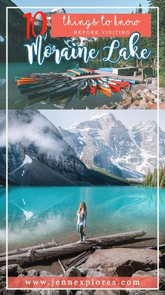 """Have you visited Moraine Lake, Alberta yet? If not — is it on your bucket list? This blog will help you plan the first trip! """"10 Things to Know Before Visiting Moraine Lake"""" 💜 #travelalberta #morainelake #lakelouise"""