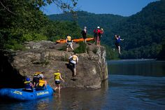 Rock Jumping on the Lower New River in West Virginia by ACE Adventure Resort1, via Flickr