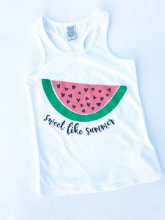 """Sweet Like Summer"" Infant/Girls Racerback Tank"