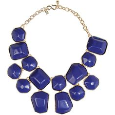 Kenneth Jay Lane Gold-plated resin necklace ($120) ❤ liked on Polyvore featuring jewelry, necklaces, accessories, collares, blues, navy, kenneth jay lane, navy jewelry, kenneth jay lane jewelry and resin necklace