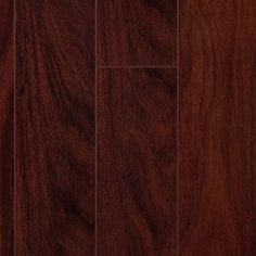 "Mahogany Glueless Laminate Flooring. AC3 rated. For residential and light commercial usage. 12mm thick, 5"" wide x 47-3/4"" long. Floating installation, Valinge® G2, 4-sided locking tongue and groove. $3.50/sf."