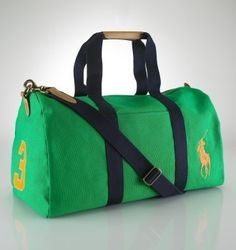 635808e57baa Big Pony Canvas Duffle In Green  77.35 Ralph Lauren Handbags