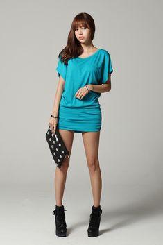 Blue dress Asian giraffe