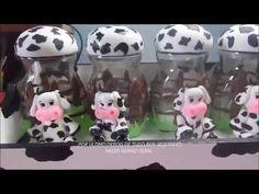 Kit de potes vaquinha em biscuit 1ª parte - YouTube