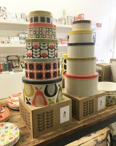 Aaaaaand.... EXCITING NEWS!!! We are now stocking the AMAZING Orla Kiely!!! We've got melamine, tins and homewear right now.. It'll be up online next week but come take a peek if you're local - we are in love!!!!  #orlakiely