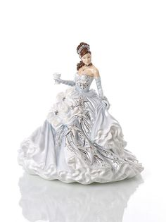 Congratulations Silver - Meet the latest #figurine in our Congratulations series. This stunning Silver figure is a completely unique colourway which our Master Painter, Dan Smith has created using all of his skill and experience in figure painting, using subtle greys, mother of pearl lustre and real platinum detail. Ideal for those celebrating a silver anniversary, or for anyone who loves a bit of bling!