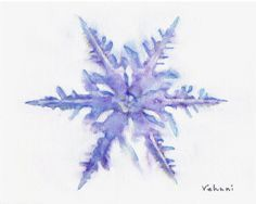 Snowflake watercolor