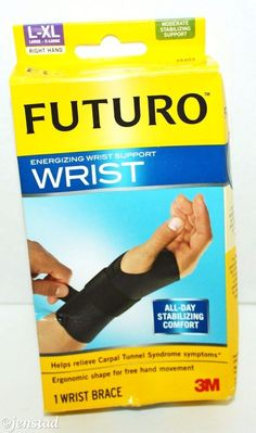 FUTURO ENERGIZING WRIST BLACK BRACE SUPPORT RIGHT HAND LARGE / EXTRA LARGE NEW #Futuro